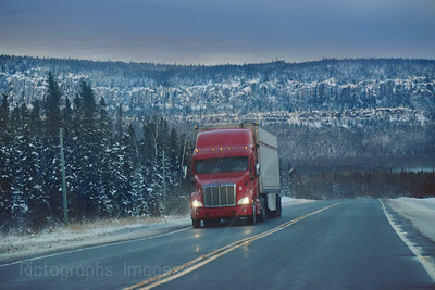 Winter Trucking On The Trans Canada