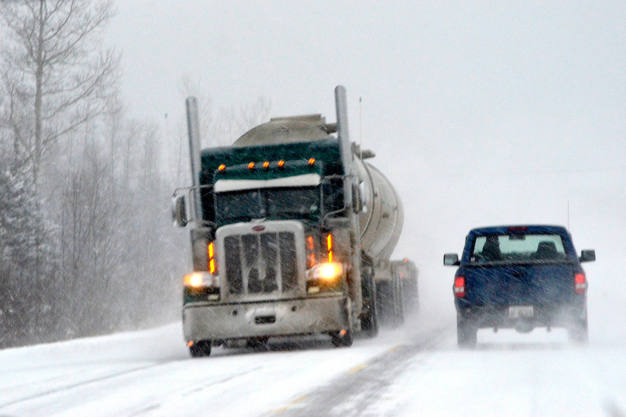 Winter, Travel, Highway Seventeen, Lake Superior Circle Route,