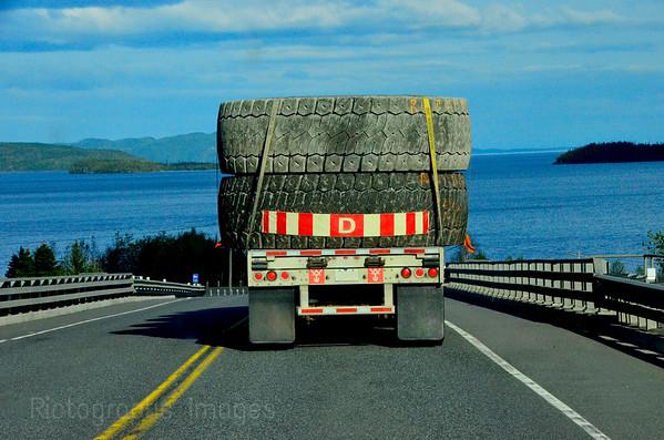 Trucking BIG Tires