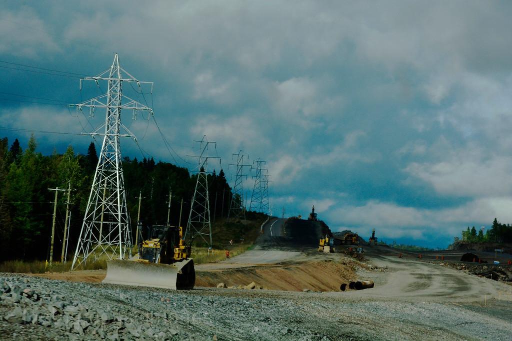 Trans Canada Highway, Eleven- Seventeen, North Western Ontario, CanadaConstruction, Summer 2016