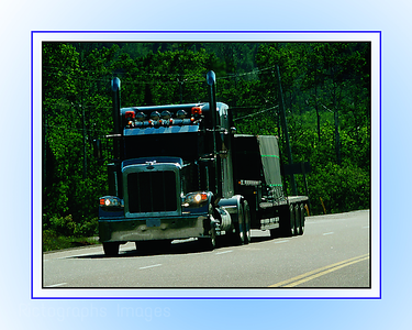 Travel On The Trans Canada Highway; Ric Evoy; Rictographs Images; Trucking Is Shipping ; 8 X10in
