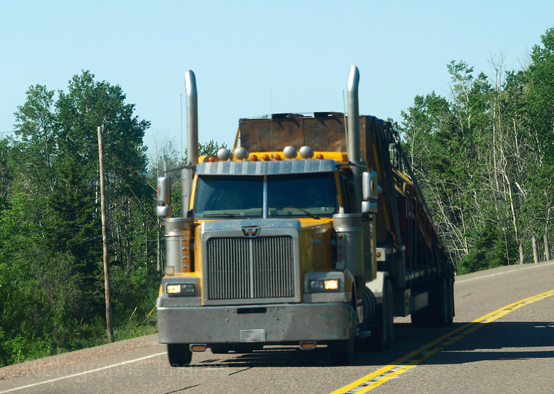 Trucking Travel On The Trans Canada