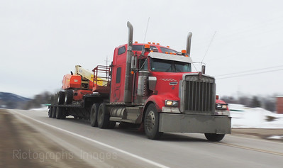 Trucking on The Trans Canada Highway, Ric Evoy, Rictographs Images,