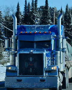 Winter Trucking on the Trans Canada Highway, 0411