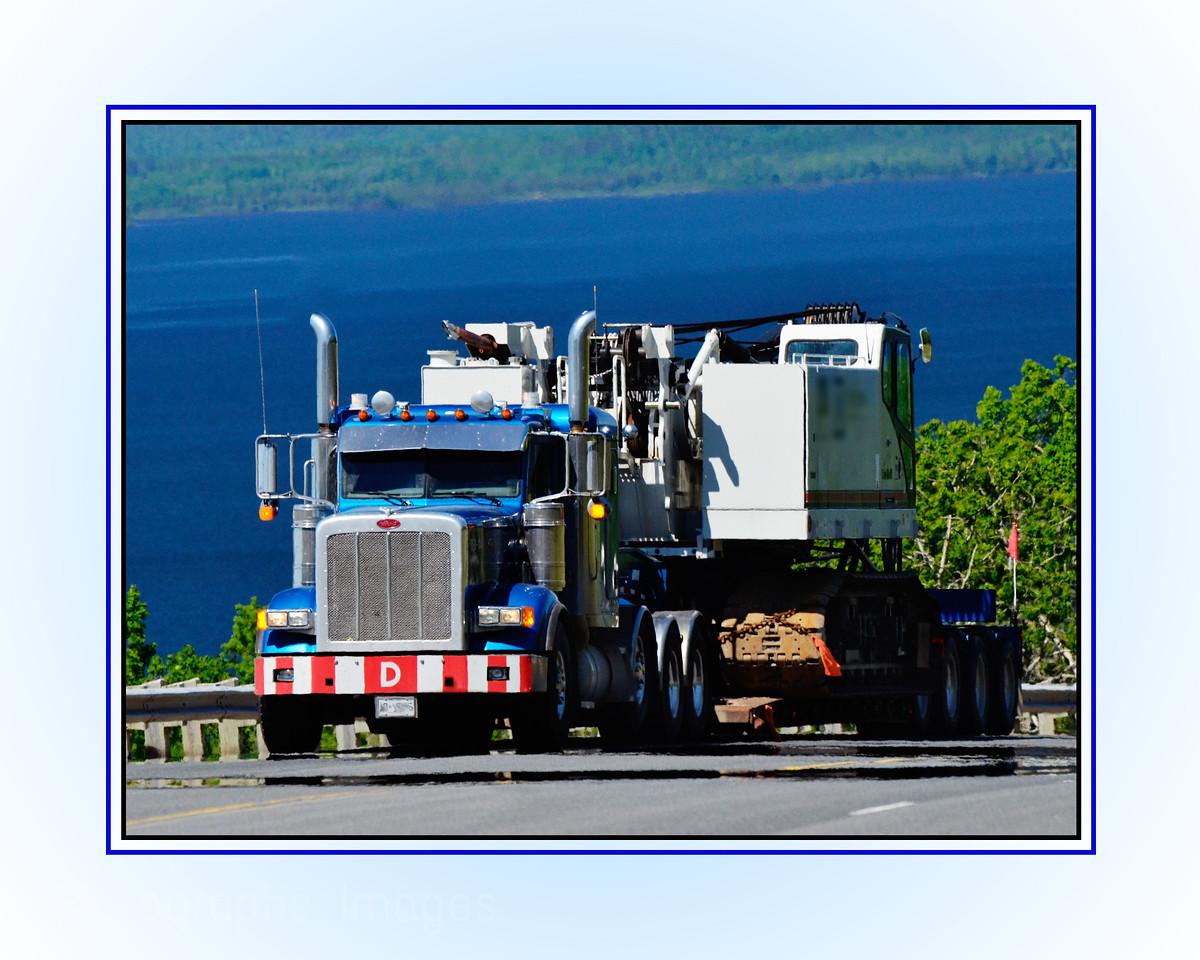 Transport Trucking; Big Equipment; Lake Superior