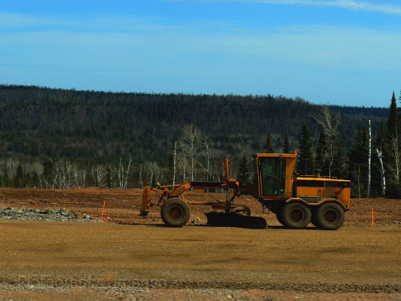 Grader, During Construction