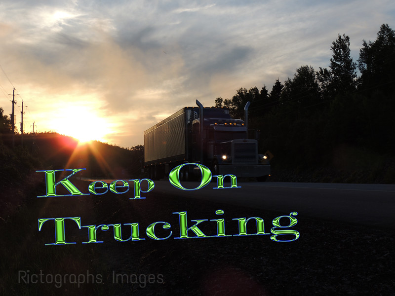 Trucking on the Trans Canada Highway