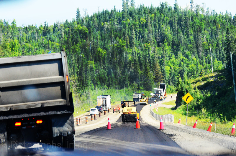 Paving The Trans Canada Highway