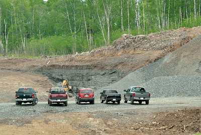 Parked at The Quarry. A lot of Earth to Move For the Trans Canada Highway.