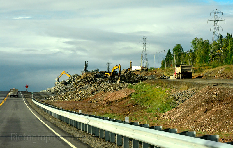Trans Canada Highway, North Western Ontario, Canada Construction, Summer 2016