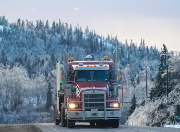 Winter Travel Trucking