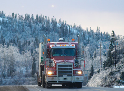 Winter Travel Trucking