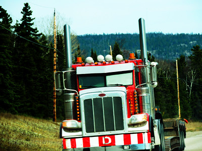 Trucking On The Trans Canada Highway,