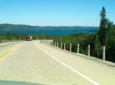Trans Canada Highway, Seventeen,  Trucking, North of Lake Superior