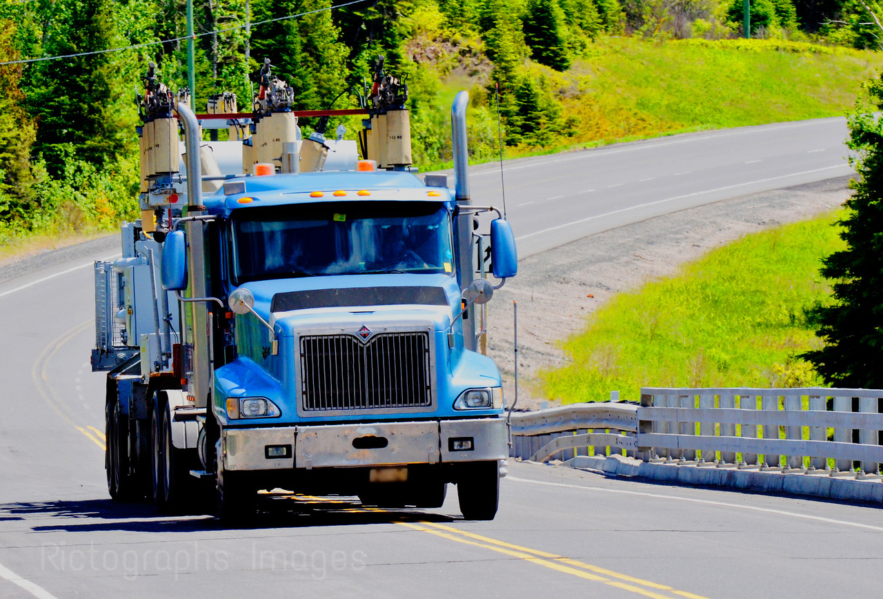 Trucking On The Trans Canada Highway, Rictographs Images,  Summer 2015