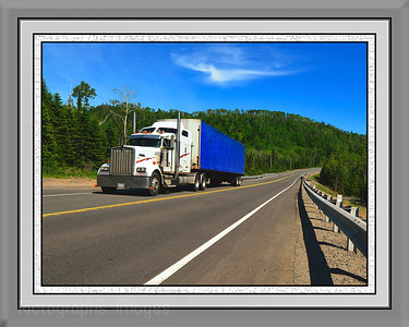 Trucking On The Trans Canada Highway, Delivering, Rictographs Images,  Summer 2015