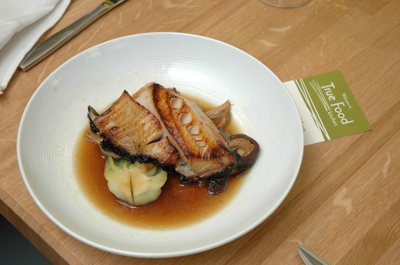 Omega-3-Rich Fish Entree: Miso Glazed Black Cod, Bok Choy & Asian Mushroom