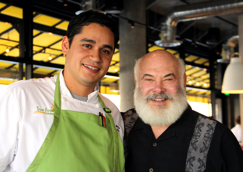Dr. Weil with Alejandro German, head chef of the Denver True Food Kitchen
