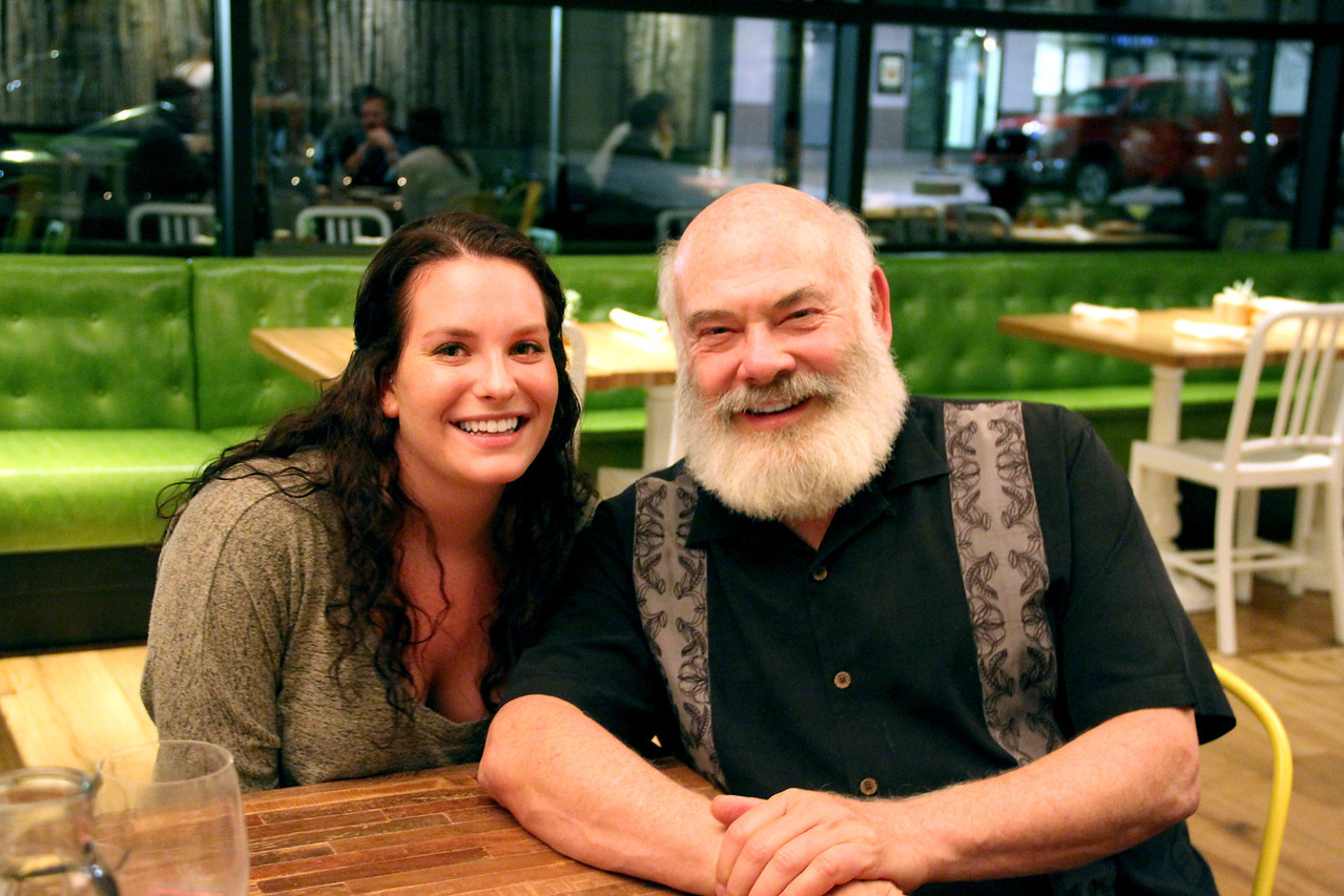 Dr. Weil and his daughter Diana enjoy an evening together at the new True Food Kitchen in Denver