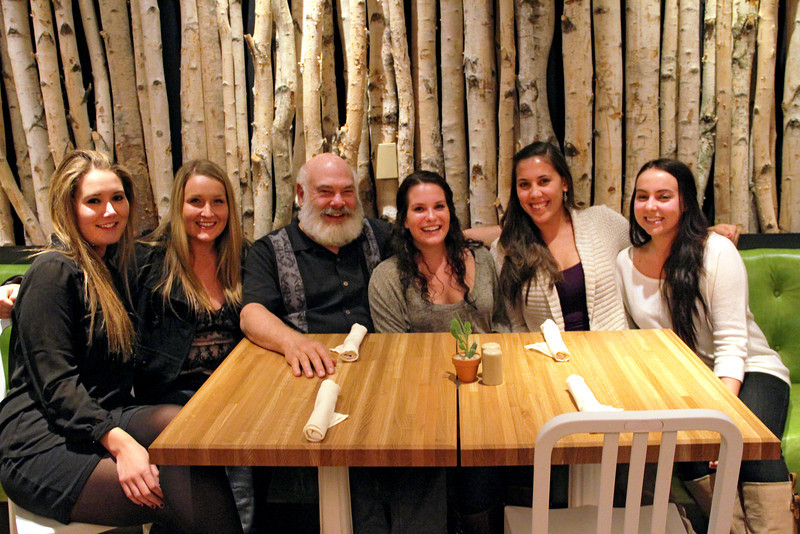 Dr. Weil, his daughter Diana and friends enjoy an evening at True Food Kitchen