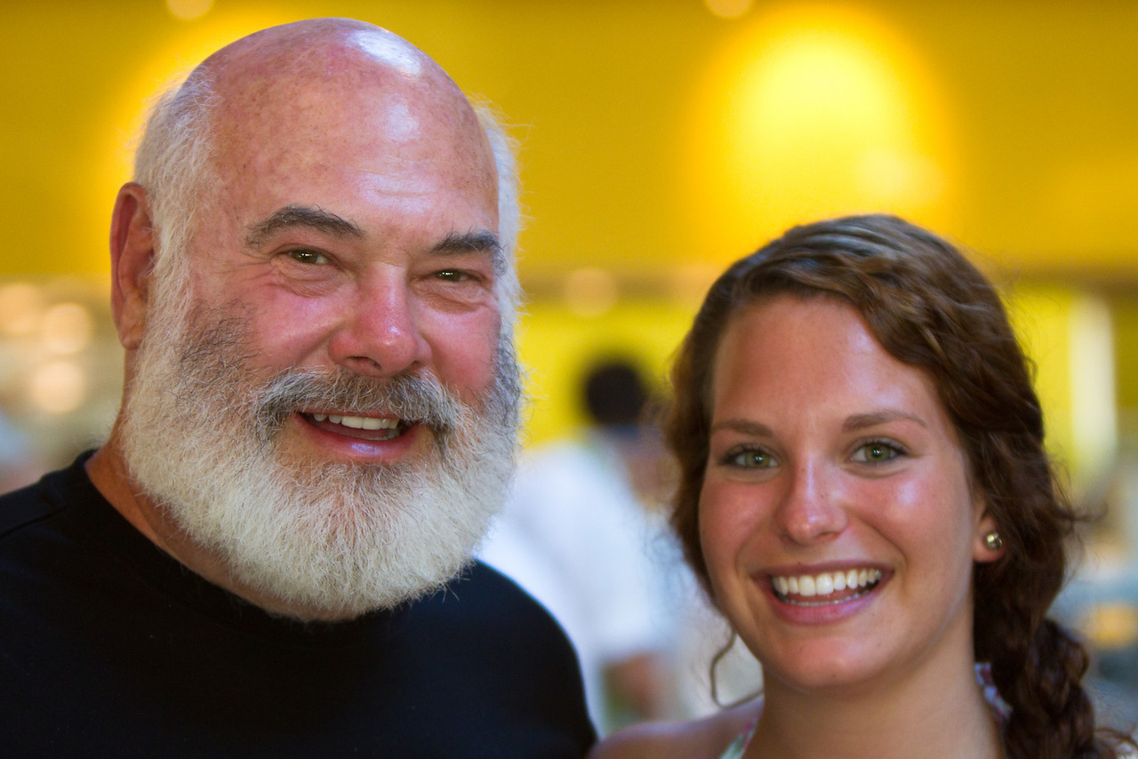 Dr. Weil with his daughter, Diana