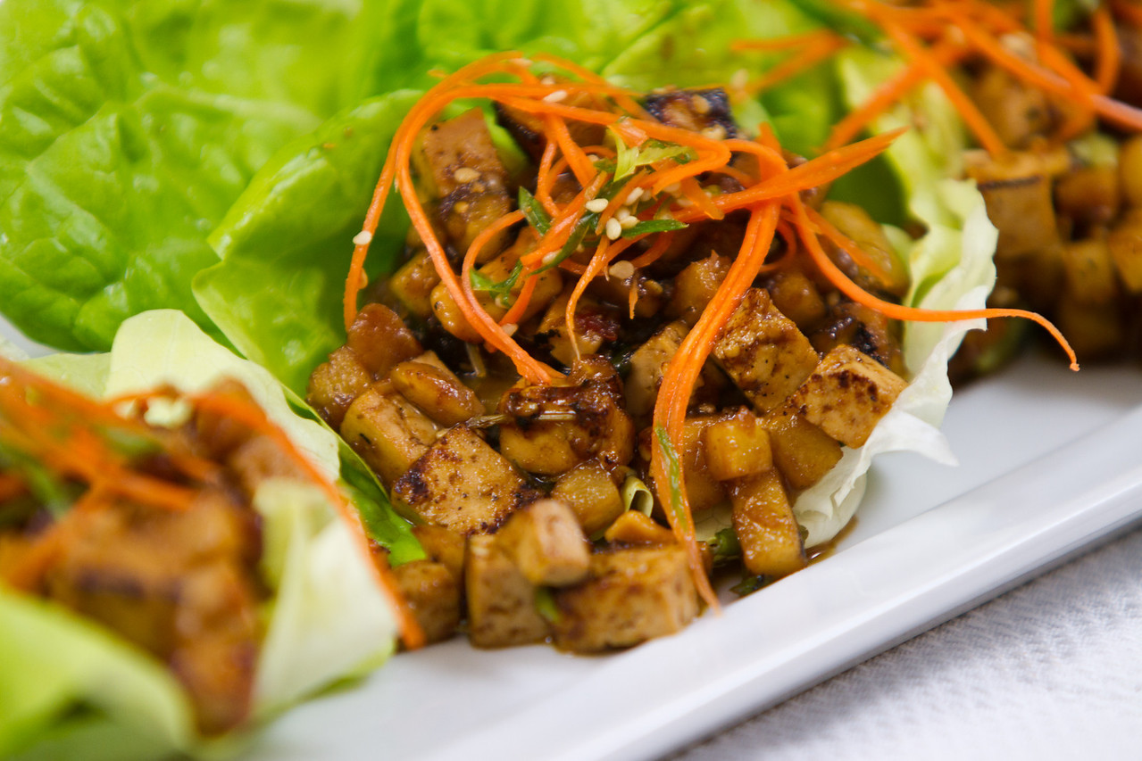 Shiitake Mushroom Lettuce Cups with Ginger & Cilantro
