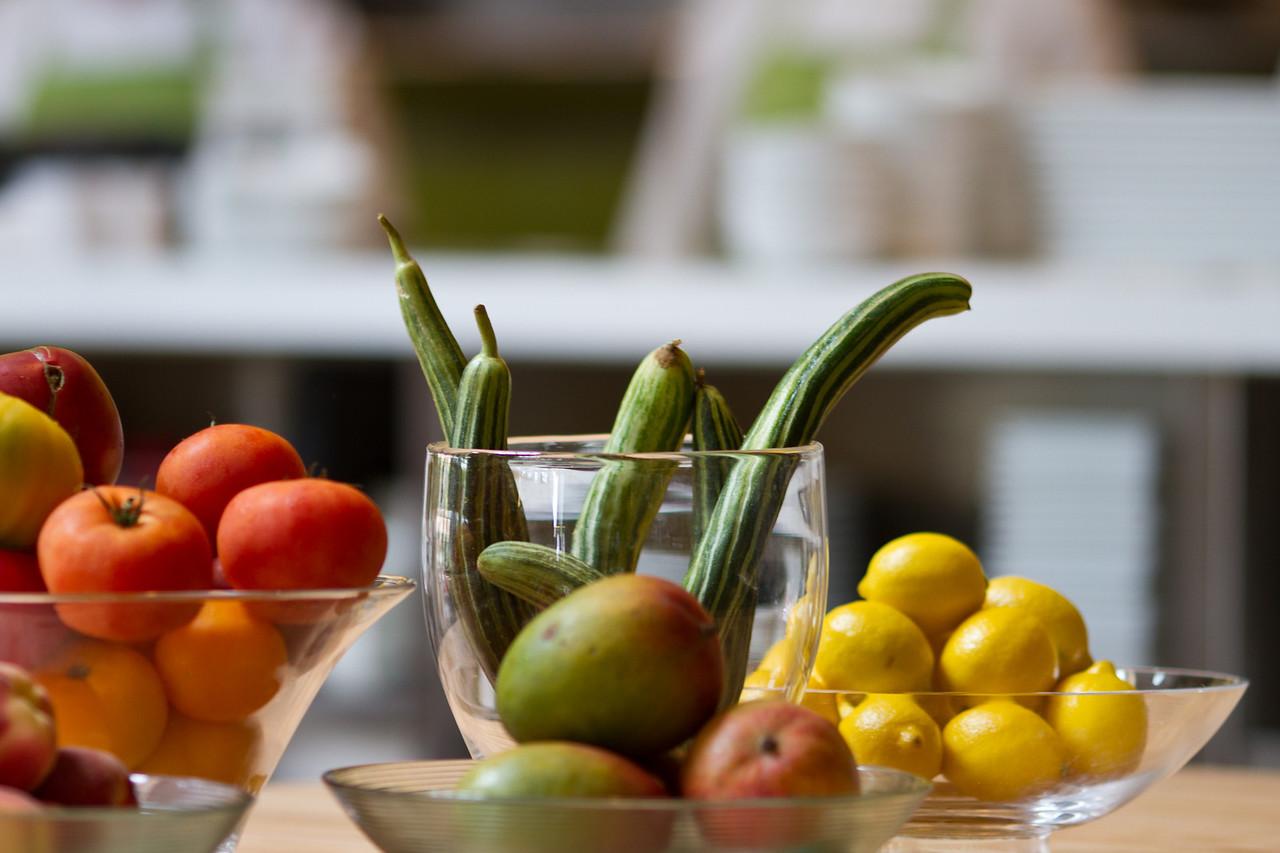 Fresh, local, organic produce.