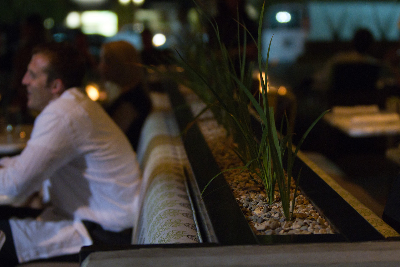 Night on the patio: The Newport True Food offers a classy outdoor dining experience.