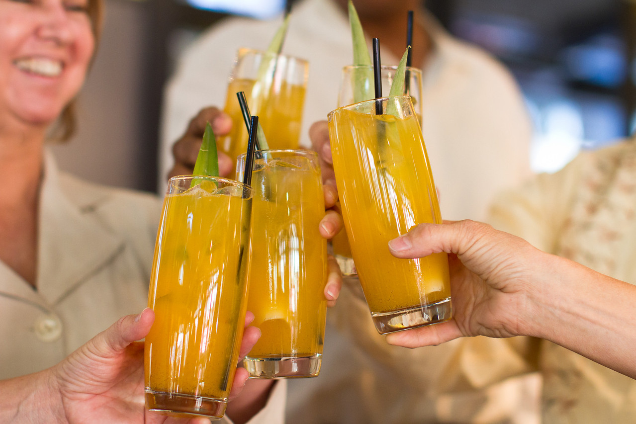 Cheers to natural refreshments! The Hangover Rx - Coconut Water, Orange Juice & Pineapple