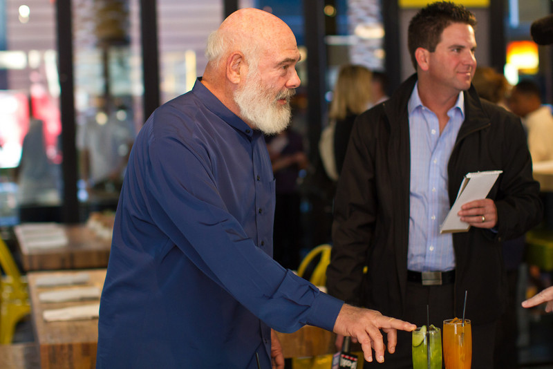 Dr. Weil talks about the natural refreshments. Beverages like the Cucumber Refresher and Andy's Elixir (named after Dr. Weil himself) at True Food are loaded with antioxidants.