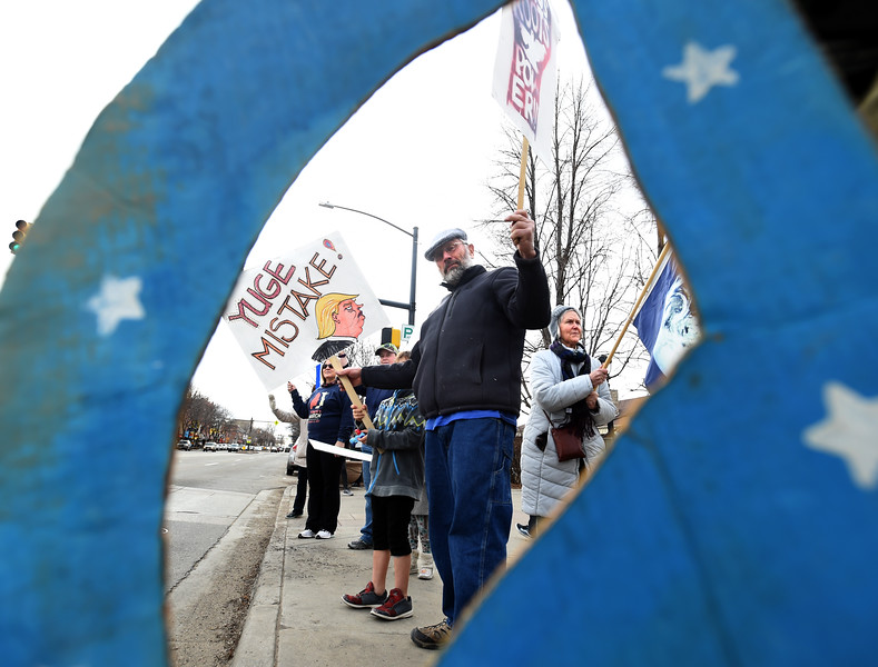 Troup Protest in Longmont