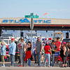 People wait in line to get into a Trump Rally at Atlantic Aviation in Albuquerque on October 30, 2016. Luis Sanchez Saturno/The New Mexican