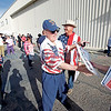 Ken Longeway, from Placitas, gets a trump sign as he arrives at a Trump Rally at Atlantic Aviation in Albuquerque on October 30, 2016. Luis Sanchez Saturno/The New Mexican