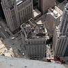Taken from the edge of the 77th floor, the intersection at the lower left is Michigan and Wacker   Photo by Jim Horton