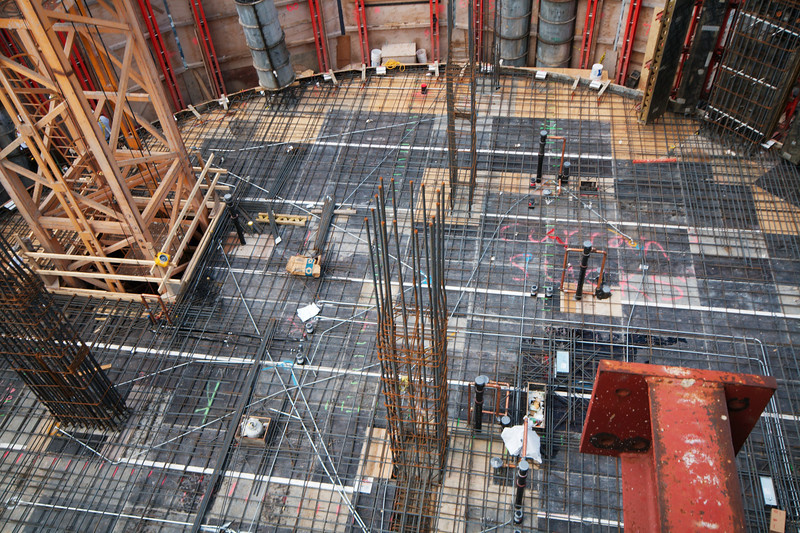 85th floor prepped for pouring   Photo by Jim Horton