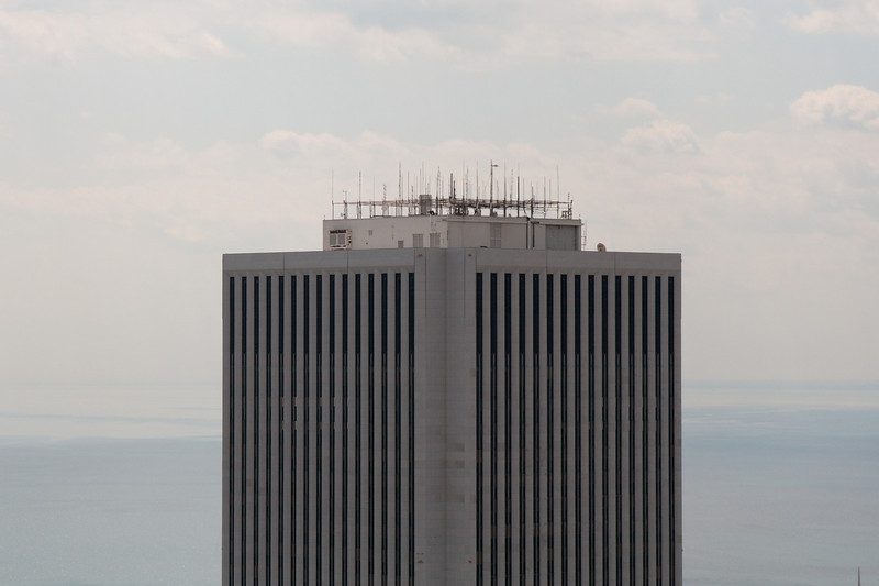 The AON/BP Amoco building, looking eerily similar to one of the World Trade Towers   Photo by Jim Horton