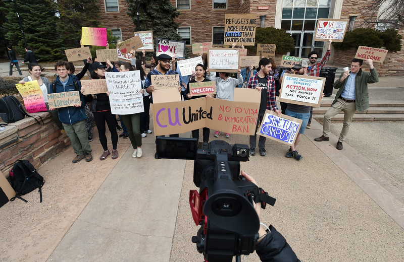 CU Protest Muslim Travel Ban