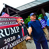 KRISTOPHER RADDER — BRATTLEBORO REFORMER<br /> Trump supporters hold a rally in Brattleboro, Vt., on Saturday, June 27, 2020, that was met with counter-protesters.
