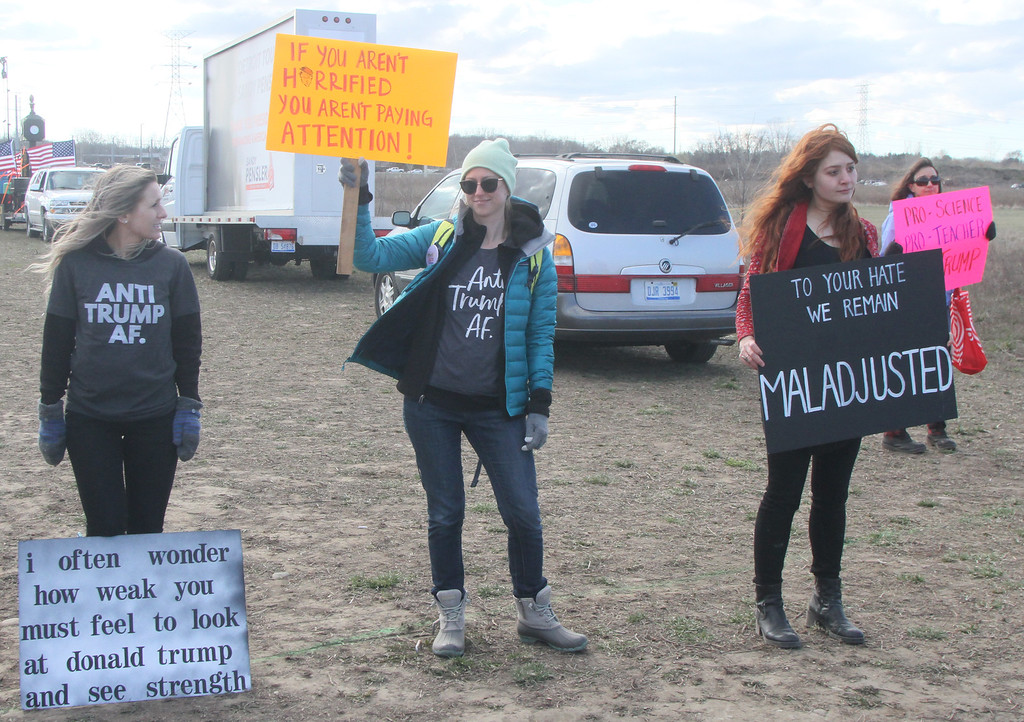 . Some of the 12  protesters