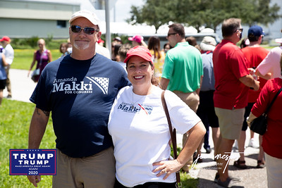 Jeff and Heather LaFllure What do all these people have in common? They have come to welcome President Trump on the tarmac at Tampa International Airport on July 31, 2020. Only pre-screened, by the Secret Service people were allowed onto the Tarmac. My name was on the list, thanks to Rosie Paulson -Latinos for Trump, but I was told that I would not be allowed with my camera - only phones to shoot photos.  President Trump will meet  with Florida Sheriffs, then travel to the Pelican Golf Club in Belleair to attend a round table discussion regarding Covid-19 and storm preparedness.  Please feel free to tag yourself and friends on the photos, which I have shot without compensation.  Nice Comments are appreciated.    I am a photographer in St Petersburg and am available for private and commercial events, sports, and more.  Photos by: Joe Mestas www.joemestas.com email: onthegulf@gmail.com