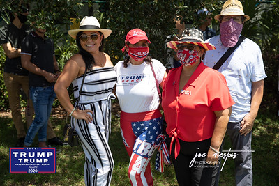 Rosie Paulson of LATINO'S for TRUMP What do all these people have in common? They have come to welcome President Trump on the tarmac at Tampa International Airport on July 31, 2020. Only pre-screened, by the Secret Service people were allowed onto the Tarmac. My name was on the list, thanks to Rosie Paulson -Latinos for Trump, but I was told that I would not be allowed with my camera - only phones to shoot photos.  President Trump will meet  with Florida Sheriffs, then travel to the Pelican Golf Club in Belleair to attend a round table discussion regarding Covid-19 and storm preparedness.  Please feel free to tag yourself and friends on the photos, which I have shot without compensation.  Nice Comments are appreciated.    I am a photographer in St Petersburg and am available for private and commercial events, sports, and more.  Photos by: Joe Mestas www.joemestas.com email: onthegulf@gmail.com