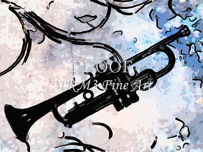 Painting Print of Trumpet 728.2062