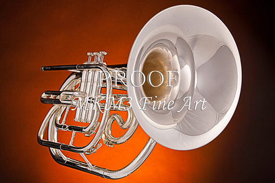 Marching Horn On Orange Wall Art 2501.06