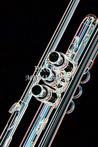 Blue Tint Trumpet Drawing 2505.24