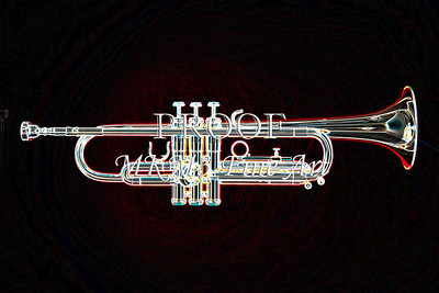 Red Tint Trumpet Drawing 2505.34