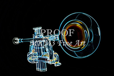 Trumpet Color Drawing Wall Art 3018.05