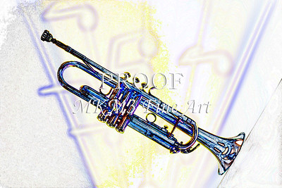 Trumpet Music Storm Watercolor 2506.22