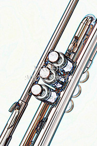 Trumpet from the Top Watercolor 2506.19