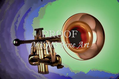 Trumpet Painting for Canvas Print 2503.34