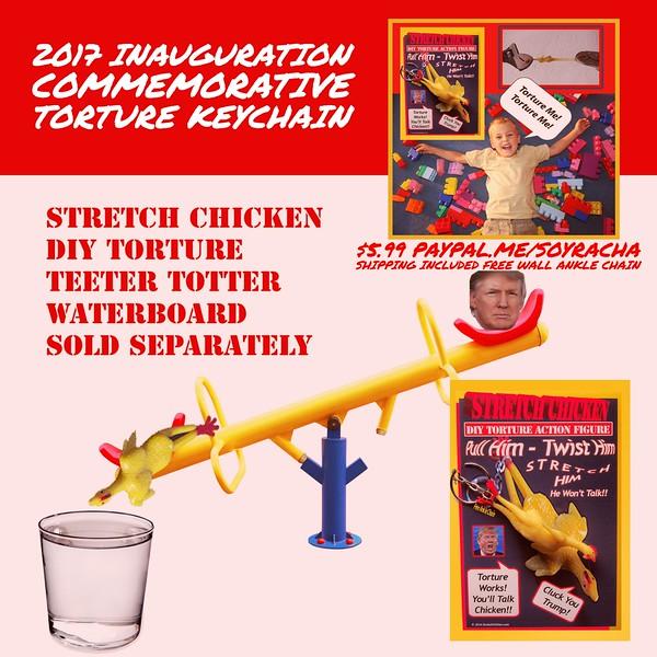 2017 Inauguration Commemorative Torture Keychain